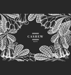 hand drawn sketch cashew design template organic vector image