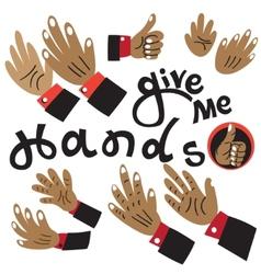 Hands cartoons vector