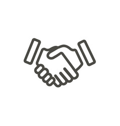 handshake icon line partnership symbol vector image