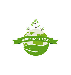 Happy earth day design save tree save earth icon vector