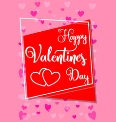 happy valentine s day vertical colorful poster vector image