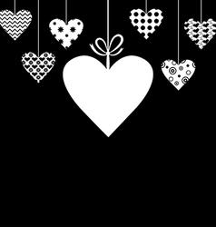 Heart hang black vector