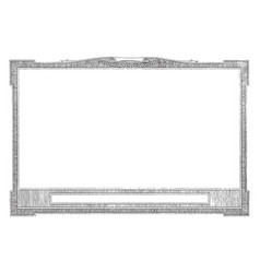 Horizontal frame with title plate at bottom vector