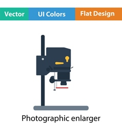 Icon of photo enlarger vector