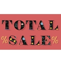 Inscription Total Sale vector