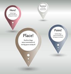 location pointer vector image vector image