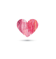 love heart sign card design pencil drawn heart vector image