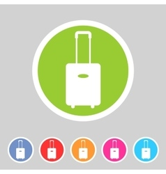 luggage suitcase bag icon flat web sign symbol vector image