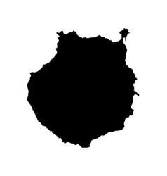 Map of gran canaria vector
