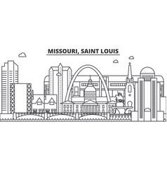 missouri saint louis architecture line skyline vector image