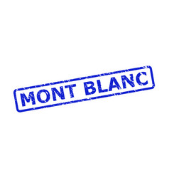 Mont blanc stamp seal with unclean style and vector