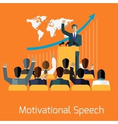 Motivational speech concept design vector image
