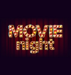 Movie night background theatre cinema vector