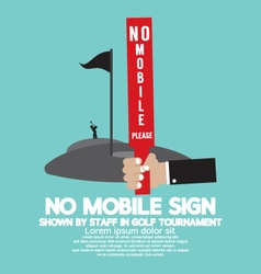 No Mobile Sign In Golf Tournament vector image