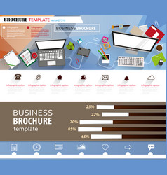 office workplace concept brochure vector image