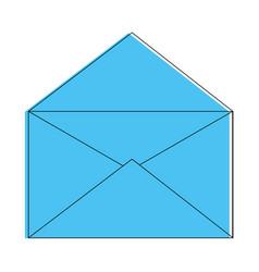Open mail symbol vector