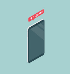 Phone in isometric view vector