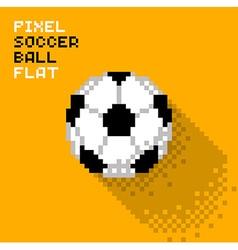 Pixel soccer ball vector