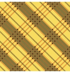Plaid seamless tartan pattern Diagonal texture vector image