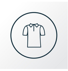 polo shirt icon line symbol premium quality vector image