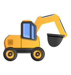 quarry machine icon cartoon style vector image