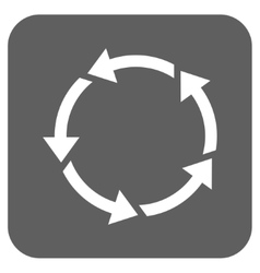 Rotation Flat Squared Icon vector