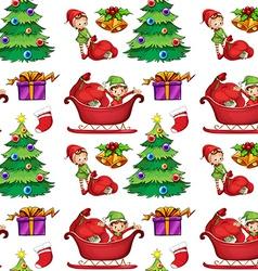 Seamless christmas wrapping vector image