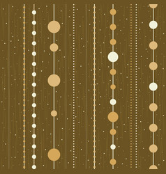 Seamless pattern of chains from christmas vector