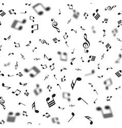 seamless pattern with falling music notes vector image