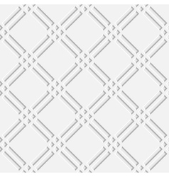 seamless pattern with white 3d elements vector image