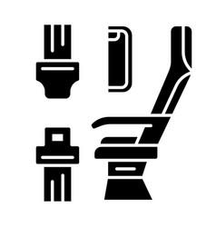 Seat belt glyph icon vector