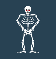 skeleton angry emoji skull grumpy emotion vector image