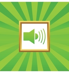 Sound picture icon vector image