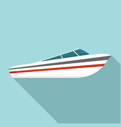 speed boat icon flat style vector image
