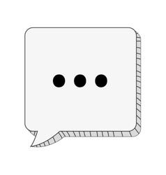 Square conversation bubble with dots vector