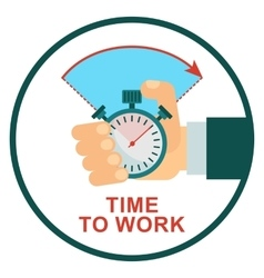 stopwatch time to work vector image
