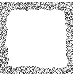 The background in black and white vector image