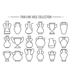 thin line vases set vector image