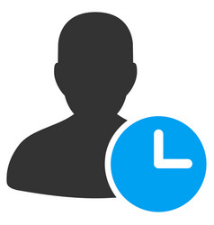Time management clock flat icon vector