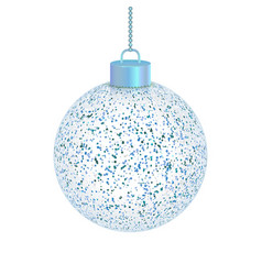 transparent christmas ball isolated on white vector image