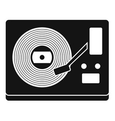 Vinyl player icon simple style vector
