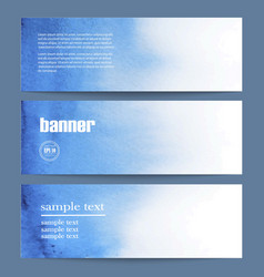 watercolor banner for web vector image
