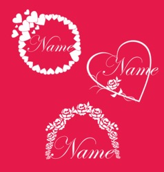 Wedding Love Frames vector