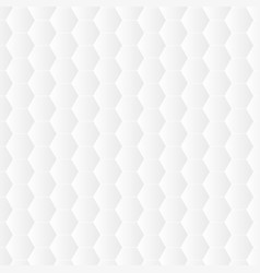 white hexagon background vector image