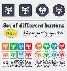 Wi-fi internet icon sign Big set of colorful vector image