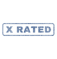 X rated textile stamp vector