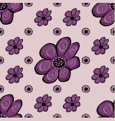 abstract flower seamless pattern background vector image