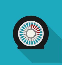 Flat tire icon vector