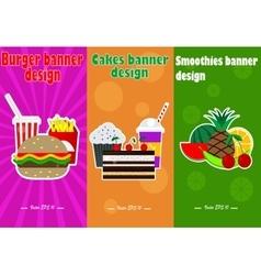 Food banner design vector image