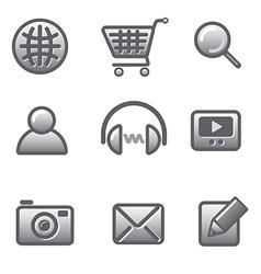 website icon set vector image vector image